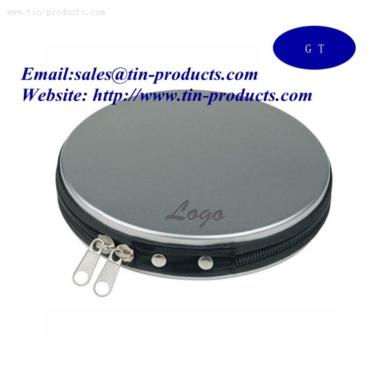 Zipper CD/DVD Blank Tin Boxes from China