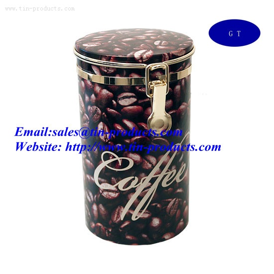 Coffee Tin ,Metal Coffee box ,Tin coffee Case